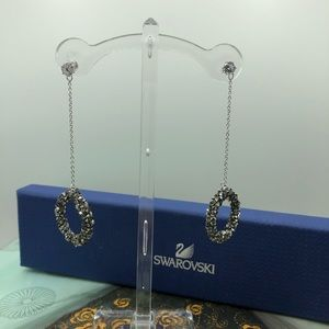 S925 sterling silver Crystal earrings